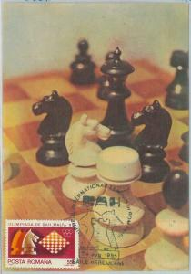 82755 -   ROMANIA   - Postal History - MAXIMUM CARD -  CHESS  1985