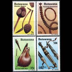 BOTSWANA 1983 - Scott# 333-6 Handcrafts Set of 4 NH