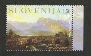 SLOVENIA - MNH STAMP - LAKE BOHINJ - ANTON KARINGER - 2009.