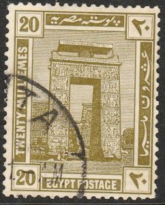 EGYPT 72, 20m KARNAK. USED  F. (334)