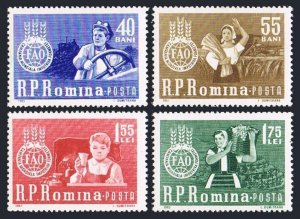 Romania 1536-1539,MNH.Michel 2126-2129. FAO 1963.Freedom from Hunger campaign.