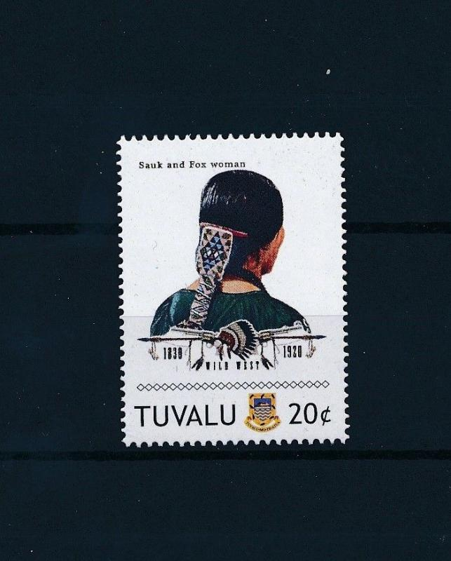 [80916] Tuvalu 2011 Native Americans Indians Sauk and Fox Woman MNH