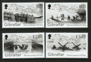 Gibraltar 2019 D-Day 75th Anniversary 4v Set Of Stamps MNH