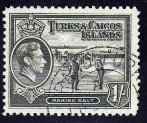 Turks and Caicos Islands #86a Raking Salt, used. PM
