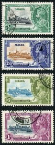 Malta SG210/13 1935 Silver Jubilee Set Fine Used