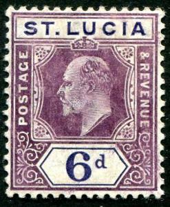 HERRICKSTAMP ST. LUCIA Sc.# 54 Mint Hinged Scott Retail $28.00