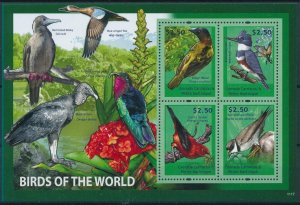 [108777] Carriacou, Petite Martinique 2011 Birds Kingfisher Teal Mini sheet MNH