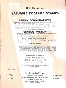 HR Harmer: Sale # 1830-1833  -  Valuable Postage Stamps c...
