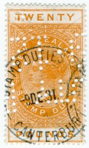 (I.B) New Zealand Revenue : Stamp Duty £20 (Canterbury)
