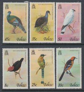 Belize 387-392 Birds MNH VF
