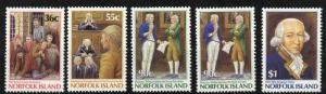 Norfolk Island 392-6 MNH Commission of Gov Philip