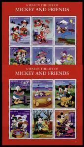 Ghana 2008-9 MNH Disney, Mickey and Friends