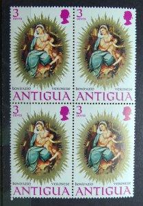 ANTIGUA 1971 SC#279 Virgin and Child by Veronese Block x 4 MNH