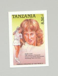 Tanzania #489 Tennis, Steffi Graf, Sports 1v Imperf Proof