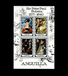 ANGUILLA - 1977 - RUBENS - PAINTINGS - 400th ANNIVERSARY - MINT - MNH S/SHEET!