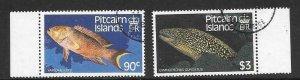 PITCAIRN ISLANDS SG312/3 1988 FISH FINE USED