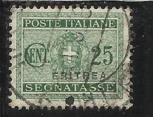 ITALY ITALIA COLONIE ITALIANE ERITREA 1934 SEGNATASSE SOPRASTAMPATI 25 C TIMB...