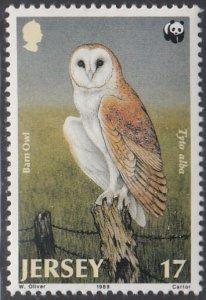 Jersey 1989 MNH Sc #510 17p Barn Owl WWF