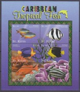 2001 St Kitts 559-564KL Marine fauna 11,00 €