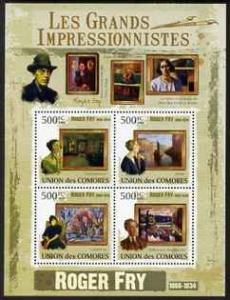 Comoro Islands 2009 Impressionists - Roger Fry perf sheet...