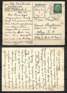 GERMANY STAMPS. WWII. 1940. POSTCARD TO OFLAG Xa - POW CAMP FOR POLISH OFFICER