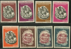 PARAGUAY Sc#744-751 IMPERF 1963 Walter Schirra US Astronaut Cpl OG Mint LH