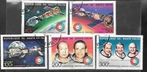Upper Volta #370 - 371 & C216 - C218 Space Apollo Soyuz