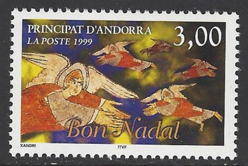Andorra French 1999 Christmas VF MNH (516)