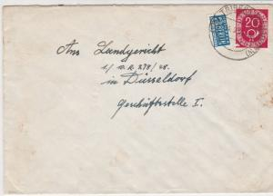 Germany 1953 Triberg Cancel Obligatory Tax Aid for Berlin Stamps Cover Ref 27320
