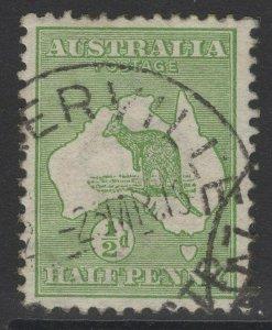 AUSTRALIA SG1 1913 ½d GREEN USED