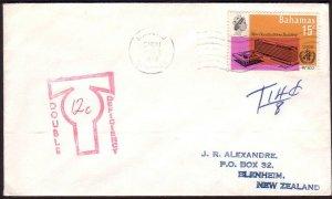 BAHAMAS 1970 taxed cover to New Zealand....................................31023