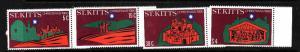 St. Kitts-Sc#45-8-Unused NH set-Christmas-1980-