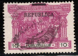 PORTUGAL Scott 194 Used  REPUBLICA Overprint