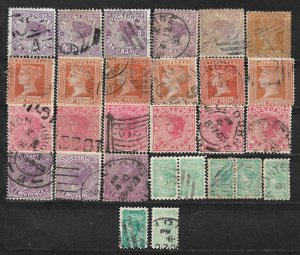 COLLECTION LOT OF 28 VICTORIA 1884+ STAMPS CLEARANCE