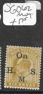 INDIA   (P1605BB)  KE  6A  SERVICE SG O62   MOG