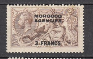 J26354  jlstamps 1924 great britain morocco mh #410 ovpt
