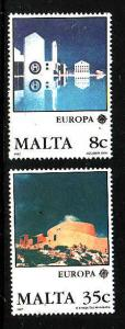Malta-Sc#694-5-Unused NH Europa set-1987-