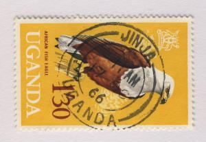 UGANDA - 1966 - JINJA NB DOUBLE CIRCLE DATE STAMP ON SG 122 1s.30