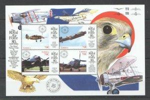 PK346 LIBERIA TRANSPORTATION AVIATION THE ROYAL AIR FORCE BIRDS 1KB MNH STAMPS