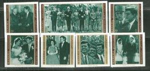 Manama MNH Set Of 7 John F. Kennedy 1971 Imperfs. Complete Set