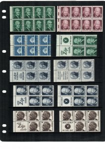 United States 10  booklet panes MNH