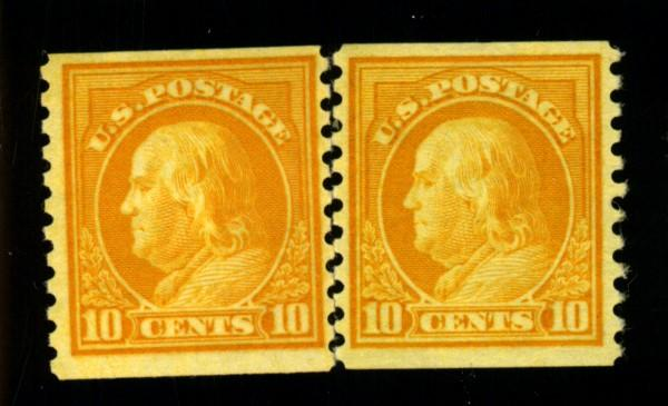 497 (2) MINT F-VF 1 NO Gum 1 OG HR Cat$35