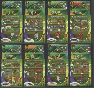 PE497-504 2014 MADAGASCAR FOOTBALL WORLD CUP BRAZIL GROUPS & TEAMS 8KB+8BL MNH
