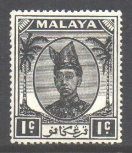 Malaya Trengganu Scott 53 - SG67, 1949 Sultan 1c MH*