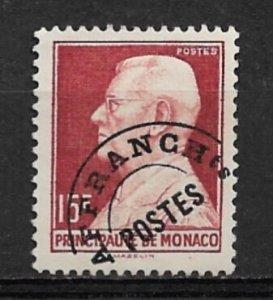 1949 Monaco 236 15F Louis II Precancel used