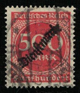 Reich, 500 Mark, overprinted DIENSTMARKE, Germany (T-6649)