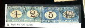 ITALY #J13 15 17 19 USED FINE Cat $123