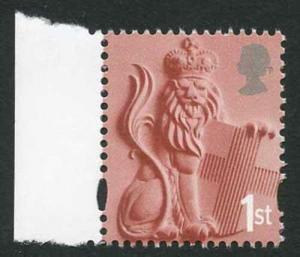 2001 England regional NVI 1st (without white borders) on dull original paper