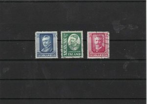 iceland 1954  mounted mint + used stamps set cat £42 ref 7320