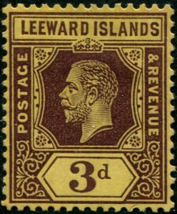 HERRICKSTAMP LEEWARD ISLANDS Sc.# 58 Scott Catalogue $95.00 Mint LH